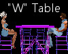 """""""W"""" Club Table for 4"""