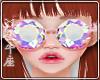 ♉ Glasses Diamond Pink