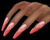 Pink Chevron Nails M40