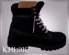 K Al blk purple shoes