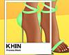 [K] NEON GREEN HEELS