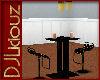 DJL-BlkGld Bar ChairSet