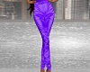Purple Satin Pants