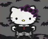 Hello Kitty Goth Sticker