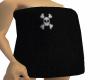 Fuzzy Black Twl W/ Skull