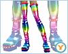 Rainbow Spike Boots