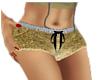 french golden shorts