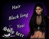 Hair black long Yosi