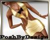 Club Mini Dress Gold GA