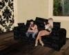 pvc look sofa