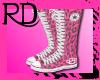 Pink Leopard Converse