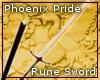 Phoenix Pride Rune Sword