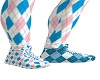 blueberry argyle shoes