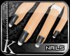 [K] Black Ice Tip Nails