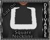 Fur Square Neckline