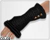 !© Knit Gloves Black