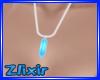 [Zlix]Blue Gem Necklace