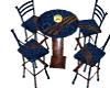 Blue & Wood Club Table