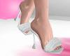 Fluffy White Heels