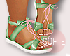 ❀ kids melon sandals