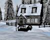 Snowy Christmas Cabin