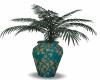 gold teal vase