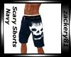 Scary Shorts Navy New