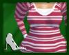 L8y* Magenta Striped Top