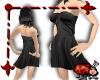 Silk Mini Dress - Black