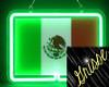 neon Mexican flag