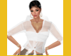 DION HOT WHITE SHEER TOP