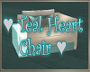Teal Hearts Chair