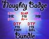 Naughty Badges Bundle 5k