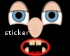 funny face sticker