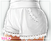 white kawaii shorts