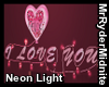 I Love You Neon Light