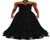Black Scale Cowl Dress