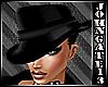 Gangster Lady Hat Black