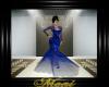 Elegant Gown Blue Lace