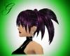 black/hotpink hair