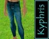 Worn Blue Jeans Tight
