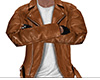 Brown Leather Jacket 5 M