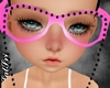 Pink/Black Pearl Glasses