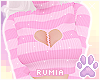 r. Broken Sweater Pinku