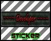Developer Tag Sticker