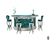 Silveer/Teal Bar