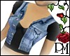 [PBM] Denim Vest Black T
