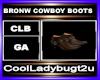 BRONW COWBOY BOOTS