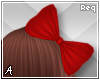 A| Red Hair Bow 1