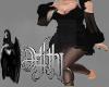 holiday fur dress black